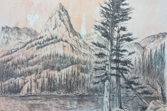 Study for Odessa Lake - Rocky Mountains Series